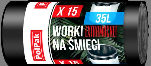 Worki LDPE 35L, 15 szt.